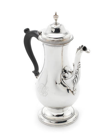 A George III  silver  coffee pot by Hester Bateman, London 1781