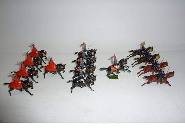 Britains British Cavalry and Infantry in full dress 79 excluding sandbags