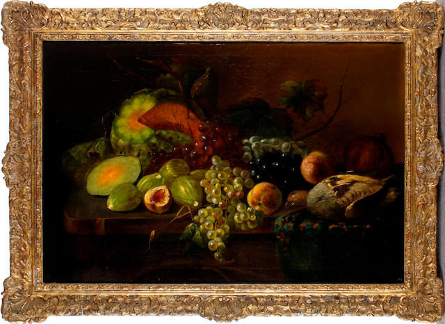 H. Velten Still life of fruit upon a table