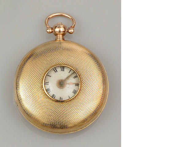 Hamlet, Princes Street, Leicester Fields: An 18ct gold half hunter pocket watch