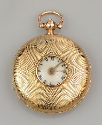 Hamlet, Princes Street, Leicester Fields: An 18ct gold half hunter pocket watch