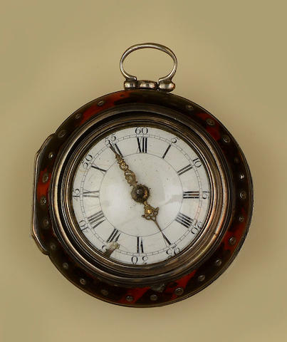 J Edmonds, London: A silver pair cased pocket watch
