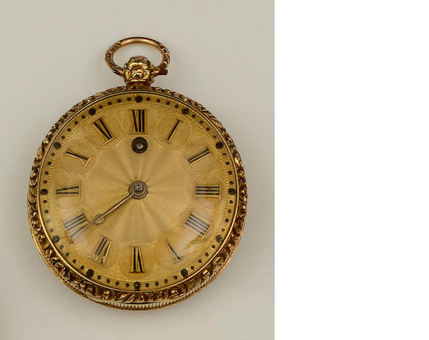 G. K. Hirst, Leeds: An 18ct gold pocket watch