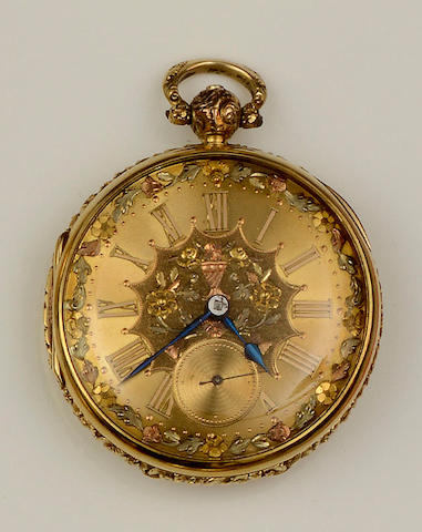 R. Lucy, Liverpool: An 18ct gold pocket watch