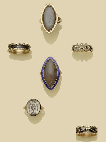 A collection of antique rings