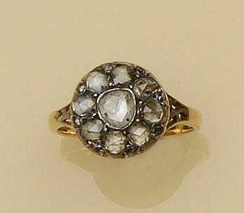 An antique diamond cluster ring