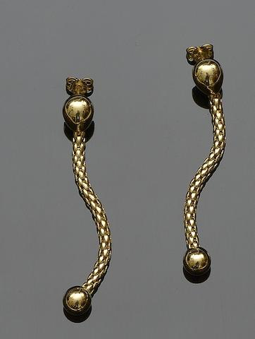 A pair of 18ct gold earrings by Fope