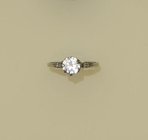 A single stone diamond ring
