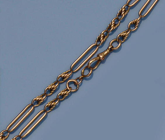 A 15ct gold Albert chain