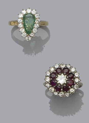 Two gem set cluster rings (2)