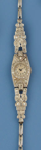 A diamond cocktail watch, circa 1920s