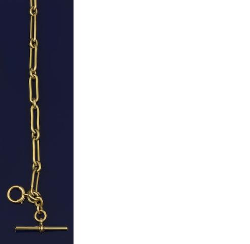 An 18ct gold chain
