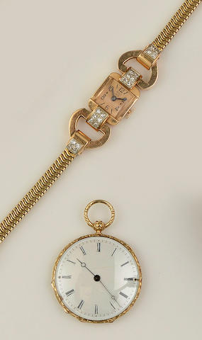 A French fob watch and a French cocktail watch, circa 1940s/50s (2)