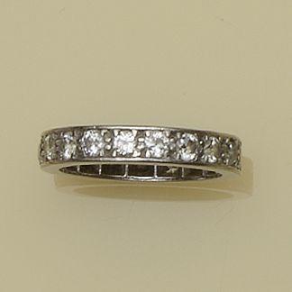 A diamond full hoop eternity ring
