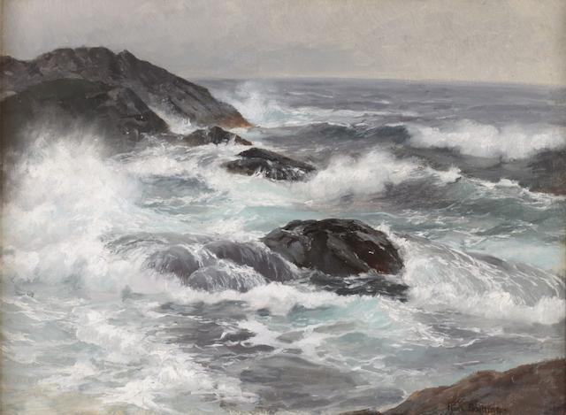 Karl Boehme (German, 1866-1939) Stormy sea