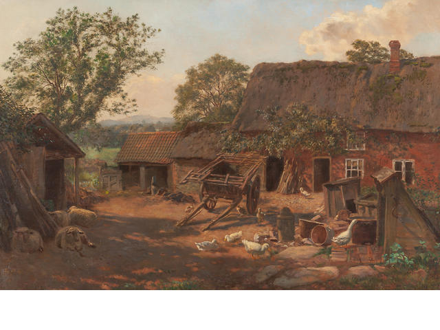 George Moore Henton (British, 1861-1924) The Wheelwrights Cottage, Leicester