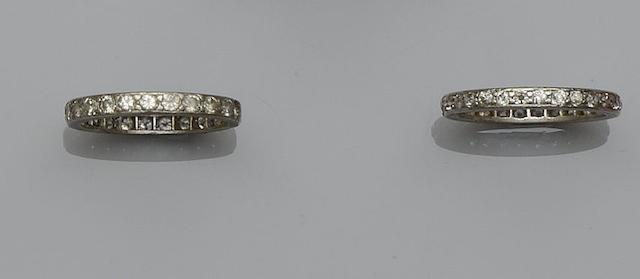 Two diamond eternity rings (2)