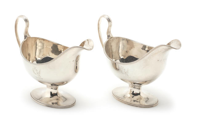 A pair of George III silver sauceboats by John Robins, London 1783  (2)