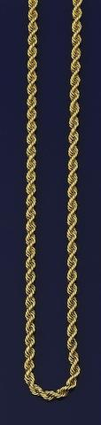 A ropetwist-link necklace