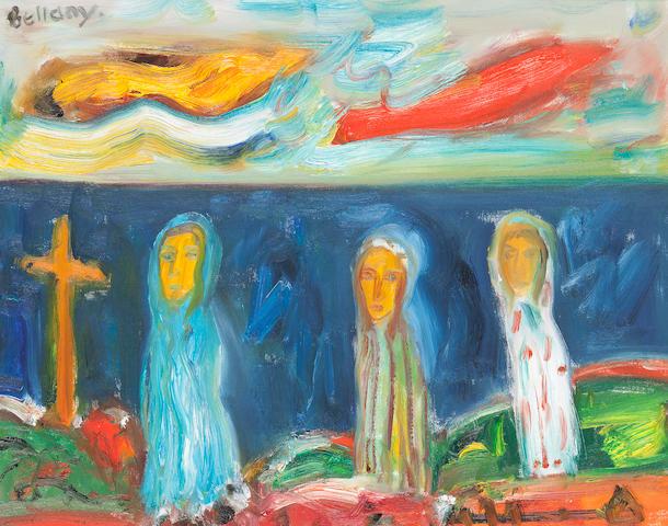 John Bellany, CBE RA HRSA LLD(Lon) (British, born 1942) Pilgrims 40 x 50 cm. (15 3/4 x 19 11/16 in.)