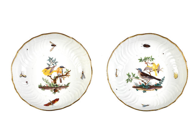 A pair of Meissen shallow bowls Circa 1900