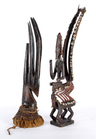 Two Bamana crest masks, Mali 2