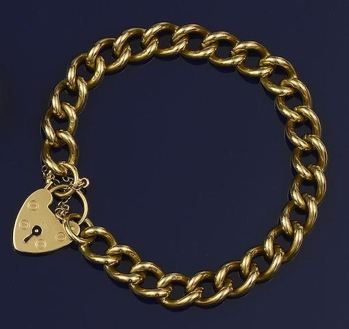 An 18ct gold curb-link bracelet