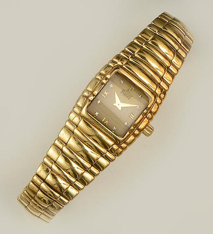 Piaget: An 18ct gold lady's wristwatch