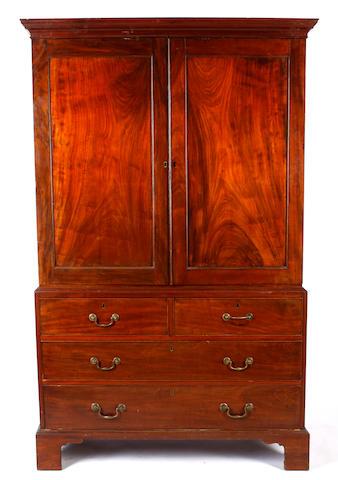 A George III mahogany clothes press