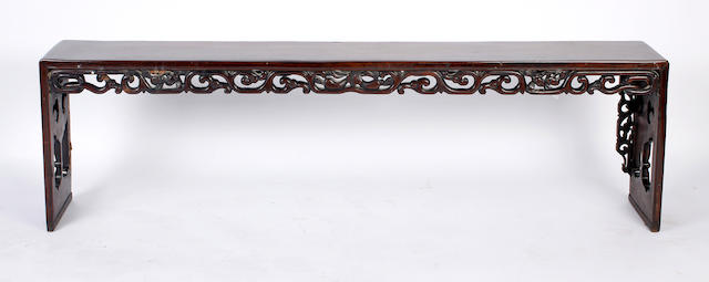 A 19th Century Chinese hardwood low table