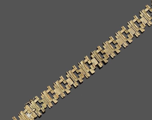 A 9ct gold bracelet, circa 1970s