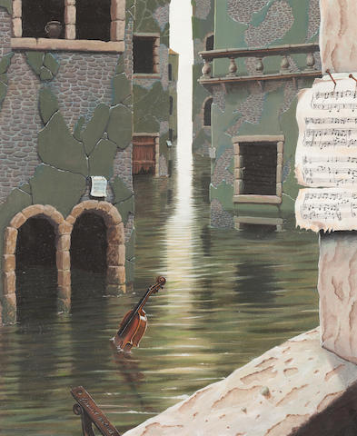 Gordon K Mitchell , ARSA RSW RGI (British, born 1952) Violin in Venetian canal
