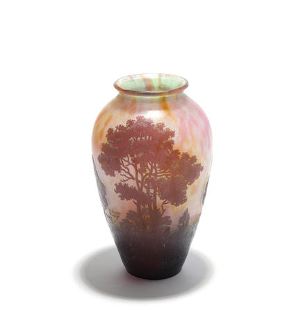 A Daum Nancy cameo glass vase Circa 1930