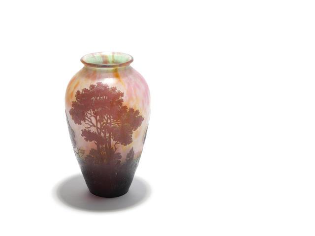 A Daum Nancy cameo glass vase Circa 1930