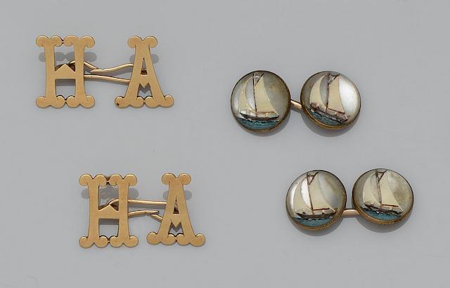 Cartier: A pair of cufflinks (6)