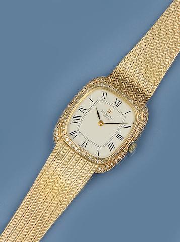 Sarcar: A diamond set wristwatch
