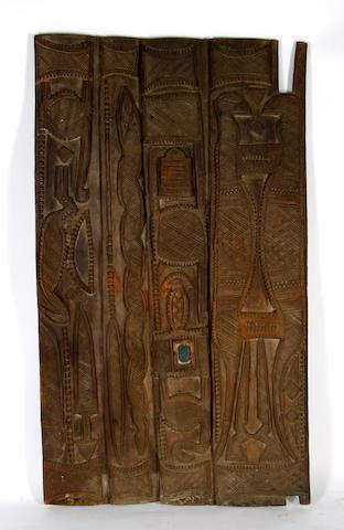 A large Nupe door Nigeria 169 x 98cm