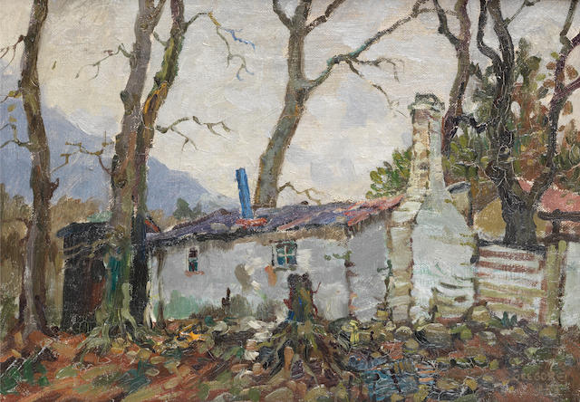 Gregoire Johannes Boonzaier (South African, 1909-2005) An old cottage, Mowbray