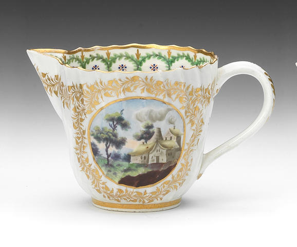 A Caughley milk jug, circa 1792-93