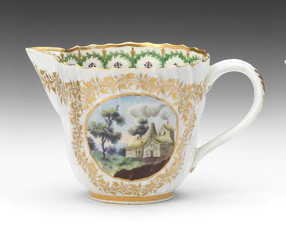 A Caughley milk jug, circa 1792-93