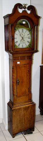Welsh 19th century oak 30hr longcase clock by Thomas Parry, Llandilo (sic)
