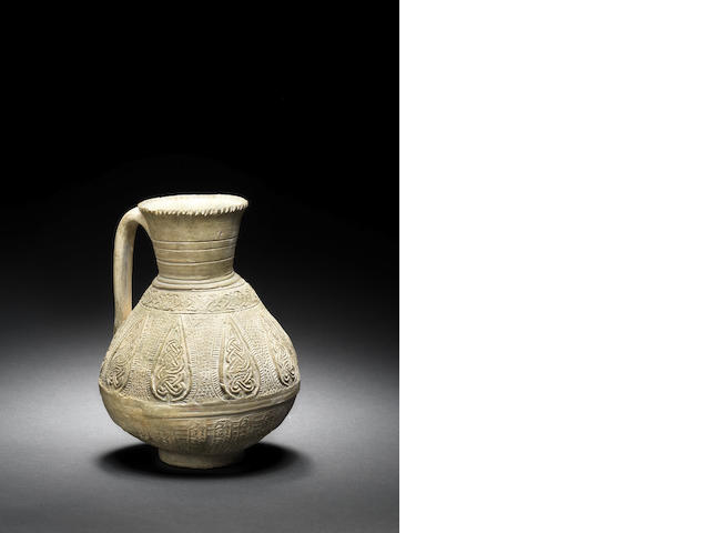 An unglazed pottery jug (line 18)
