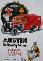 1930 Austin Seven Van  Chassis no. B6704103932 Engine no. 116869