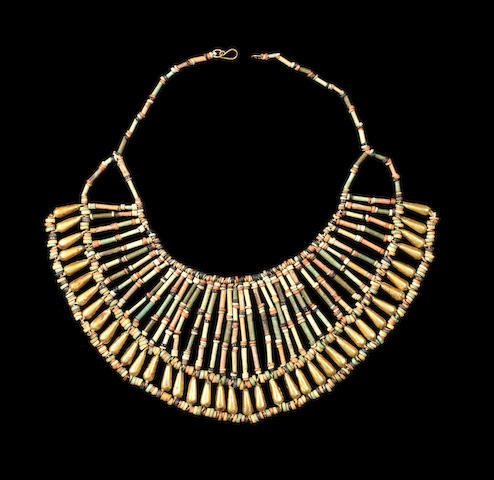 An Egyptian mummy bead collar