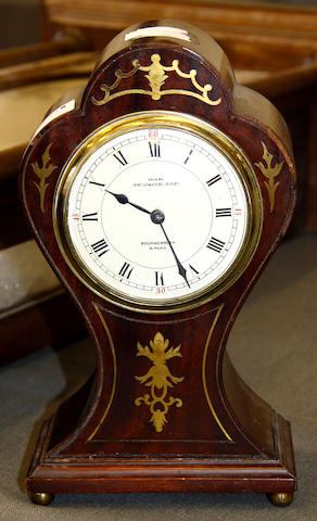 A cased early 19th Century Viennese wall timepiece, Unsigned,