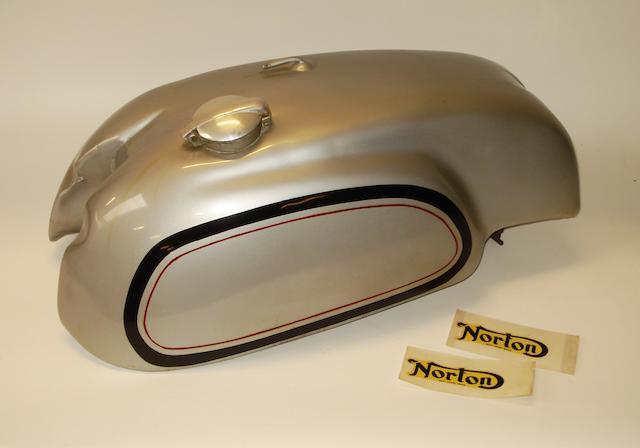A Manx Norton petrol tank,
