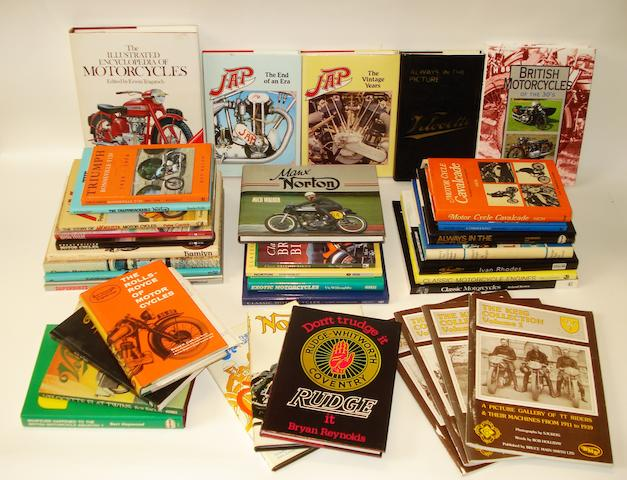 Assorted motorcycle books,