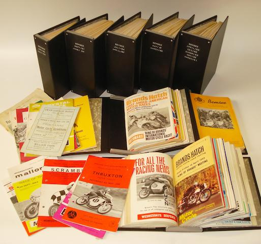 Assorted post-War Brands Hatch race programmes,