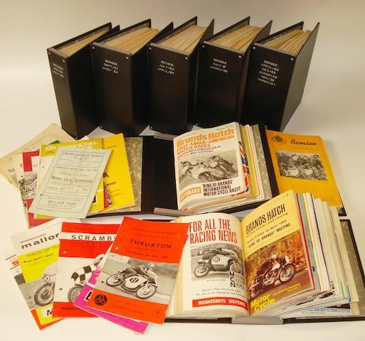 Assorted post-War Brands Hatch race programmes,