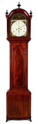 A 19th Century mahogany longcase clock  W.Coulson, North Shields